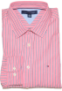 Tommy Hilfiger Long sleeves shirts -  Tommy Hilfiger Men Striped Long Sleeve Logo Shirt Brink pink/black/white