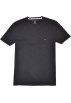 Tommy Hilfiger T-shirts -  Tommy Hilfiger Men V-Neck Custom Fit Logo T-Shirt Black
