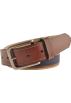 Tommy Hilfiger Belt -  Tommy Hilfiger Men's 08-4811 Canvas Belts Khaki/Brown/Navy