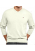 Tommy Hilfiger Pullovers -  Tommy Hilfiger Men's Ivory V-Neck Sweater Ivory