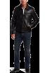 Tommy Hilfiger Jacket - coats -  Tommy Hilfiger Men's Lamb 2 Pocket Moto Jacket Black