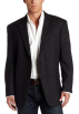 Tommy Hilfiger Jacket - coats -  Tommy Hilfiger Men's Two Button Plaid Trim Fit Sport Coat Charcoal