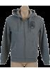 Tommy Hilfiger Camisas manga larga -  Tommy Hilfiger Mens Fur Lined Full Zip Hooded Sweatshirt Gray