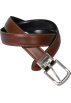 Tommy Hilfiger Belt -  Tommy Hilfiger Mens Genuine Leather Reversible Belt Brown/Black
