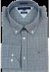 Tommy Hilfiger Camisas manga larga -  Tommy Hilfiger Mens Long Sleeve Custom Fit Button Down Shirt Gray/Black/White