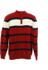 Tommy Hilfiger Pullovers -  Tommy Hilfiger Quarter Zip Sweater Red/Black/Ivory