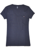Tommy Hilfiger T-shirts -  Tommy Hilfiger Slim Fit V-neck Women Logo T-shirt Navy