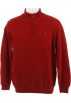 Tommy Hilfiger Pullovers -  Tommy Hilfiger Solid Quarter Zip Sweater Red