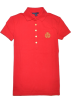 Tommy Hilfiger Majice - kratke -  Tommy Hilfiger Women Crown Logo Polo T-shirt Red