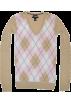 Tommy Hilfiger Pullovers -  Tommy Hilfiger Women Logo V-Neck Sweater Pullover Cream/light pink/white