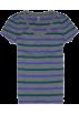 Tommy Hilfiger T-shirts -  Tommy Hilfiger Women V-neck Striped T-shirt Grey/purple/green