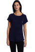 Tommy Hilfiger T-shirts -  Tommy Hilfiger Women's Basic Short Sleeve Boatneck Tee Navy