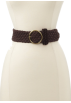 Tommy Hilfiger Belt -  Tommy Hilfiger Women's Braided Suede Strap Belt Chocolate