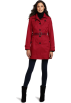 Tommy Hilfiger Jacket - coats -  Tommy Hilfiger Women's Marlo Water Resistant Fall Rain Trench Coat Rebel Red