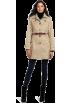 Tommy Hilfiger Jakne in plašči -  Tommy Hilfiger Women's Marlo Water Resistant Fall Rain Trench Coat Sand