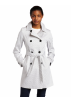 Tommy Hilfiger Jacket - coats -  Tommy Hilfiger Women's Pique Dot Double Breasted Spring Trench Coat White/Black