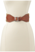 Tommy Hilfiger Belt -  Tommy Hilfiger Women's Pleated Fabric Strap Belt Camel