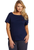 Tommy Hilfiger Shirts -  Tommy Hilfiger Women's Plus-Size Basic Short Sleeve Boatneck Navy