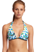 Tommy Hilfiger Swimsuit -  Tommy Hilfiger Women's Removable Soft Cup Halter Bra Navy