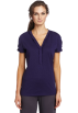 Tommy Hilfiger Top -  Tommy Hilfiger Women's Ruffle Neck Tee Astral Aura
