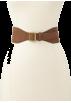 Tommy Hilfiger Belt -  Tommy Hilfiger Women's Suede Strap Belt Cognac