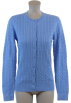 Tommy Hilfiger Cardigan -  Tommy Hilfiger Womens Cable Knit Cardigan Sweater Blue