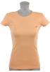 Tommy Hilfiger T-shirts -  Tommy Hilfiger Womens Crewneck Solid Color Logo T-Shirt Peach-Orange