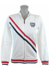 Tommy Hilfiger Jacket - coats -  Tommy Hilfiger Womens Full Zip Track Jacket Sweatshirt White/Navy/Red