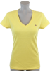 Tommy Hilfiger T-shirts -  Tommy Hilfiger Womens V-Neck Solid Color Logo T-Shirt Yellow