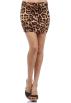 Hot from Hollywood Skirts -  Versatile Banded Waistline Printed Party Tube Smooth Fitted Contour Mini Skirt