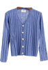 FECLOTHING Cardigan -  Vertical striped single-breasted cardiga