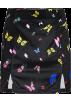 FECLOTHING Spudnice -  Vintage Butterfly Print Skirt Velvet Hig