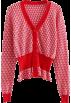 FECLOTHING Cardigan -  Vintage Deep V-Neck Plaid Knit Sweater C