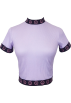 FECLOTHING T-shirts -  Vintage Toon Purple Smiley Ribbon Short