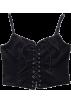 FECLOTHING Vests -  Vintage v-neck tie velvet camisole