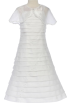 FineBrandShop Dresses -  White Organza Communion Dress with Shawl