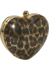 Amazon.com Clutch bags -  Whiting & Davis Heart Clutch Leopard