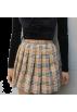 FECLOTHING Skirts -  Wild Plaid Pleated Skirt
