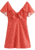 FECLOTHING Dresses -  Wild bowknot flower print dress