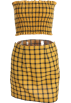 FECLOTHING Suits -  Yellow Plaid Short Skirt Set