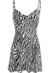 FECLOTHING Dresses -  Zebra print slim fashion dress