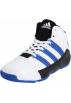 adidas Sneakers -  adidas Superbeast TD Mid Basketball Shoe (Little Kid/Big Kid) Running White/Bright Blue/Black