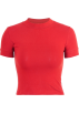 FECLOTHING T-shirts -  half neck high waist short sleeve