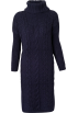 FECLOTHING Dresses -  long sweater hem split knit dress