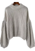 FECLOTHING Pullovers -  round neck pullover long-sleeved knit sw