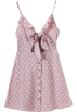 FECLOTHING Dresses -  wave point A word dress strap dress